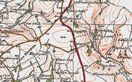 Old map of Bargoed in 1923