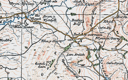 Old map of Bailey Bog in 1922