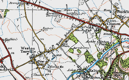 Old map of Bye Green in 1919