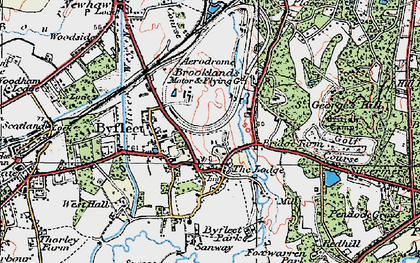 Old map of Byfleet in 1920