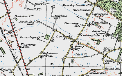 Old map of Yatehouse Green in 1923