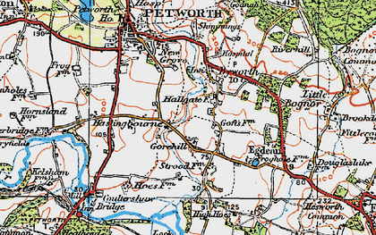 Old map of Byworth in 1920