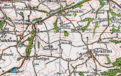 Old map of Babeleigh Barton in 1919