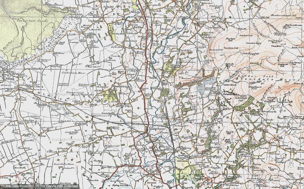 Old Map of Historic Map covering Lingart in 1924