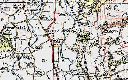 Old map of Lingart in 1924