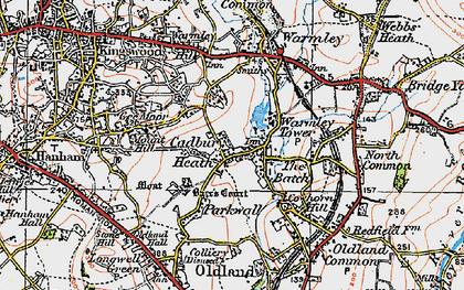 Old map of Cadbury Heath in 1919