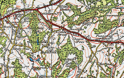 Old map of Cade Street in 1920