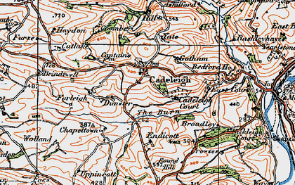 Old map of Yate in 1919
