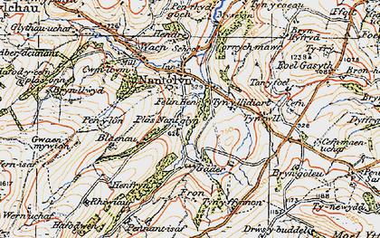 Old map of Cader in 1922