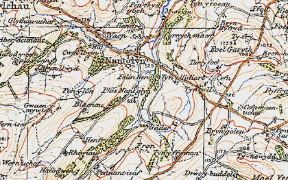 Old map of Tir Mostyn in 1922