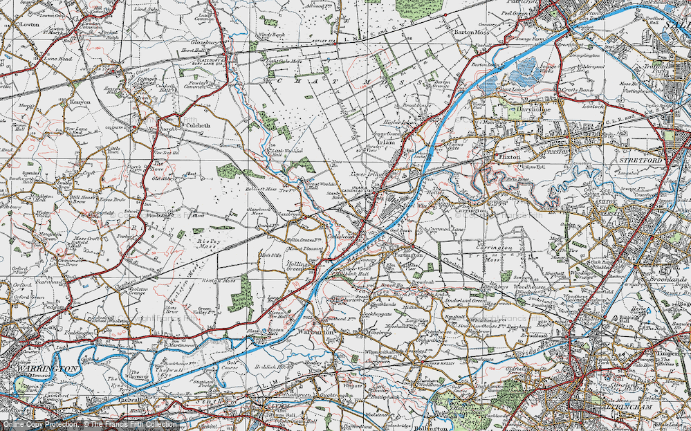Old Map of Cadishead, 1923 in 1923