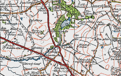 Old map of Cadle in 1923