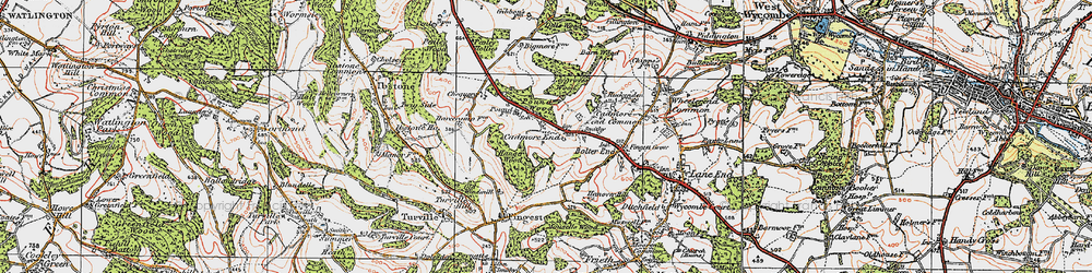 Old map of Leygrove's Wood in 1919