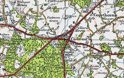 Old map of Cadnam in 1919