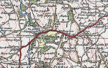 Old map of Cadole in 1924