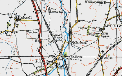 Old map of Cadwell in 1919