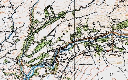 Old map of Cae'r-Lan in 1923