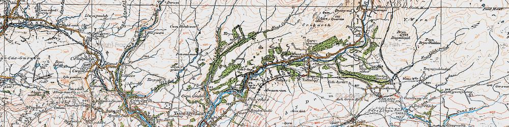 Old map of Tir-y-cwm in 1923
