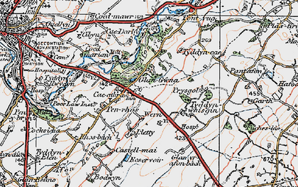 Old map of Ysbytty in 1922