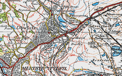 Old map of Caeharris in 1923