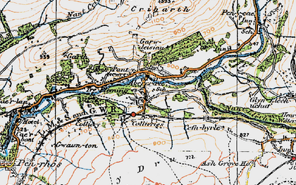 Old map of Caehopkin in 1923