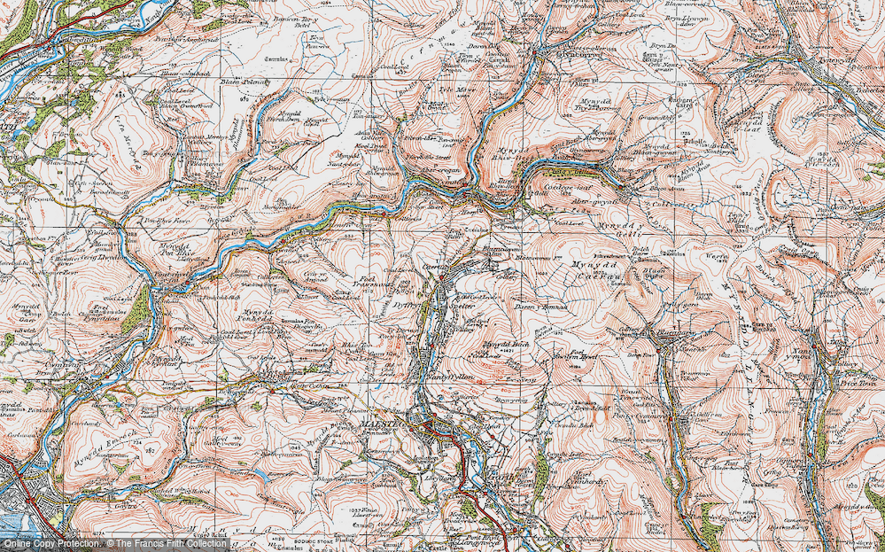 Old Map of Caerau, 1923 in 1923