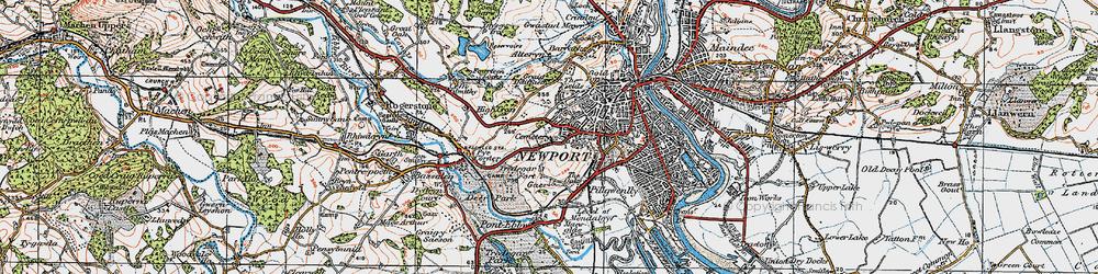 Old map of Caerau Park in 1919
