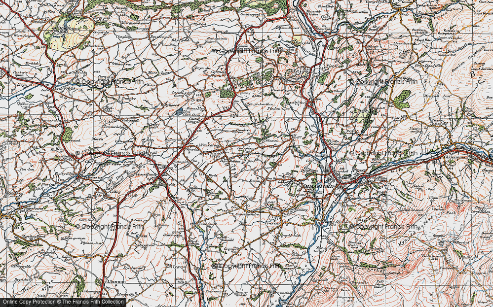 Old Map of Caerbryn, 1923 in 1923