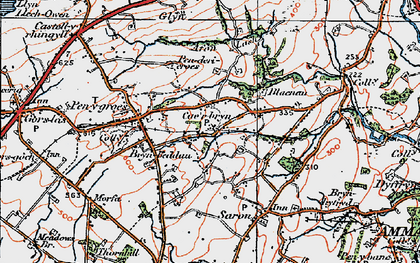 Old map of Caerbryn in 1923