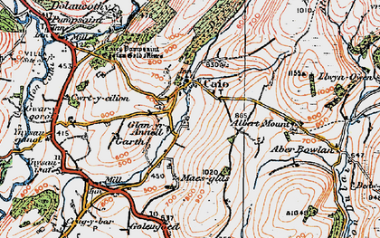 Old map of Banc Bronffin in 1923