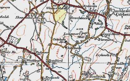 Old map of Winterfold Ho in 1920