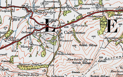 Old map of Westover Plantation in 1919