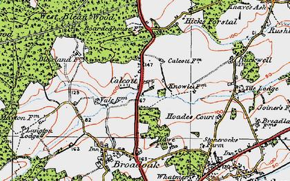 Old map of Wealden Forest Park in 1920
