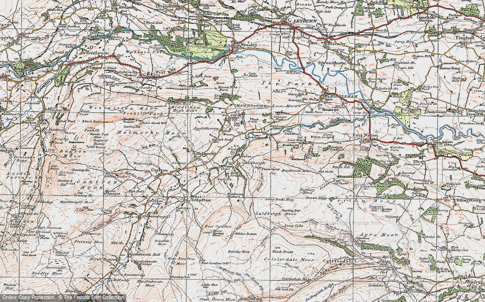 Old Map of Historic Map covering Ashgill in 1925