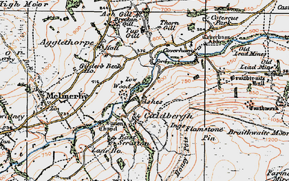 Old map of Ashgill in 1925