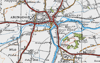 Old map of Abingdon Br in 1919