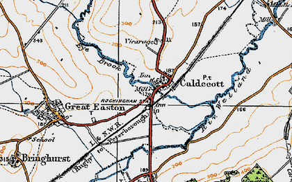 Old map of Caldecott in 1920