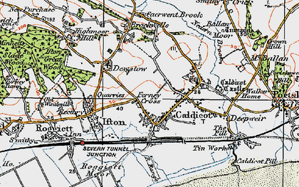 Old map of Caldicot in 1919