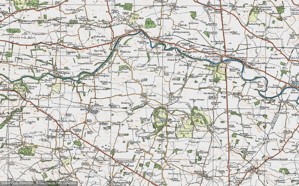 Old Map of Caldwell, 1925 in 1925