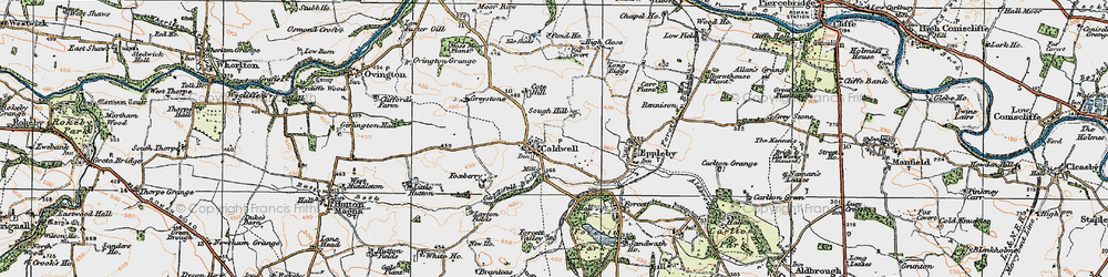 Old map of Caldwell in 1925