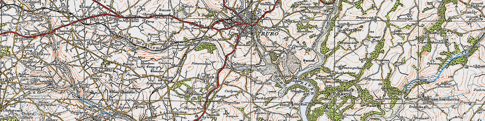 Old map of Calenick in 1919