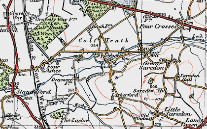 Old map of Latherford in 1921