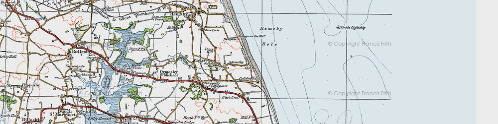 Old map of California in 1922