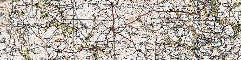 Old map of Westcott in 1919