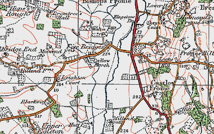 Old map of Leighton Court in 1920