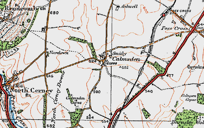 Old map of Ashwell Lodge in 1919