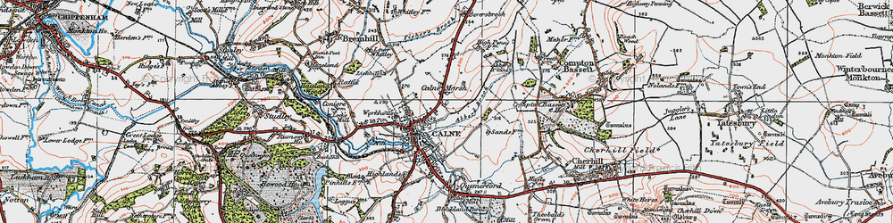 Old map of Abberd Brook in 1919