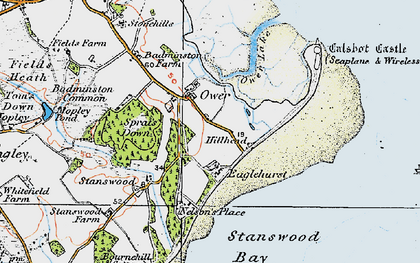 Old map of Calshot in 1919