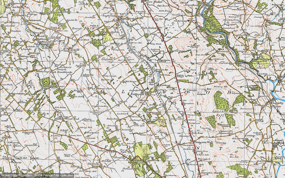 Old Map of Historic Map covering Wool Oaks Mill in 1925