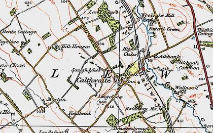 Old map of Wool Oaks Mill in 1925